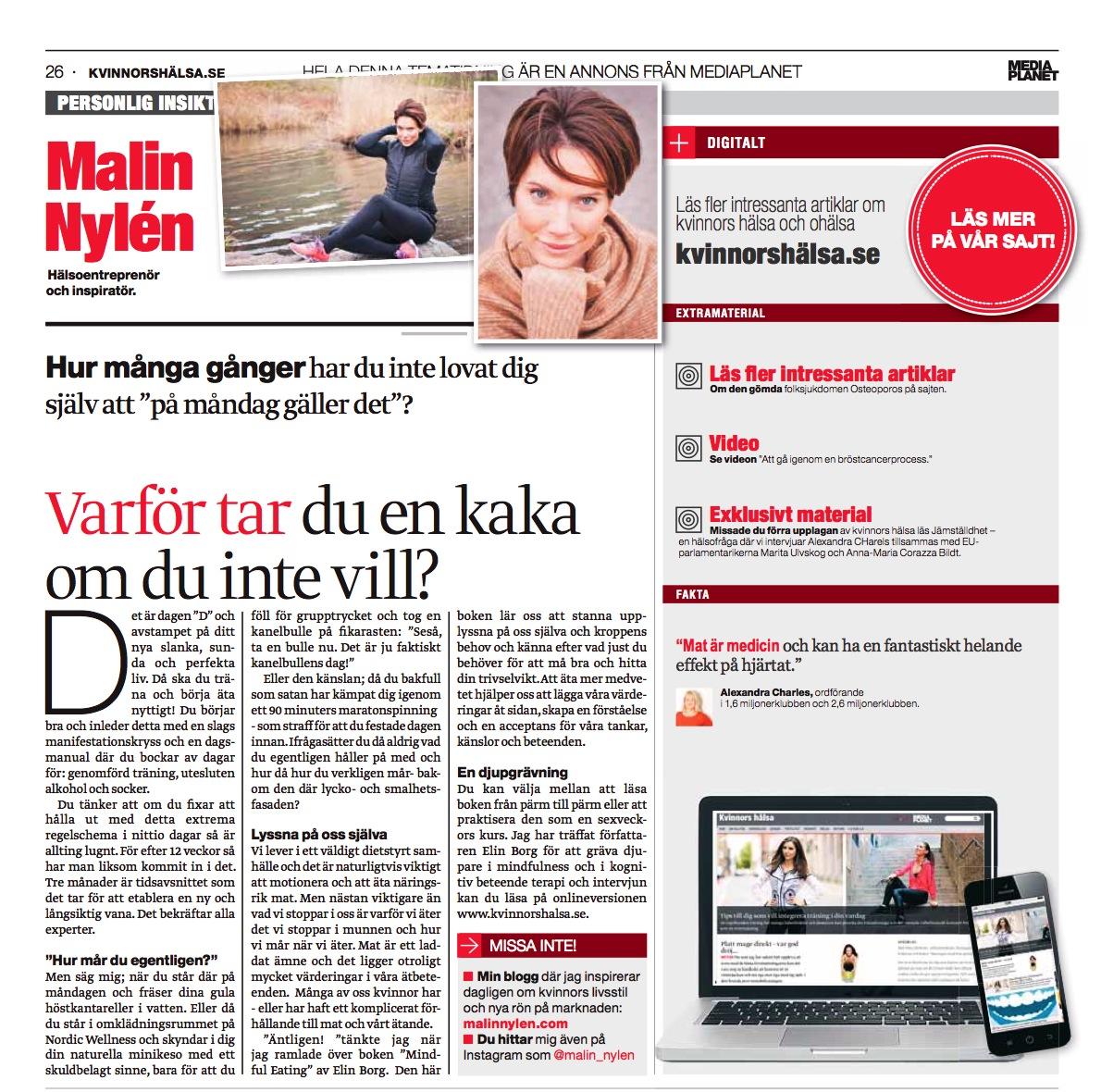 Kvinnors hälsa Dvd nov 2014